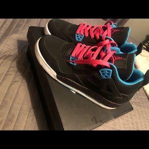 Blue and pink Girls Air Jordan 4 Retro